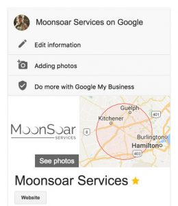 When I'm logged in to my Google account and search for my business, I have the ability to edit my information