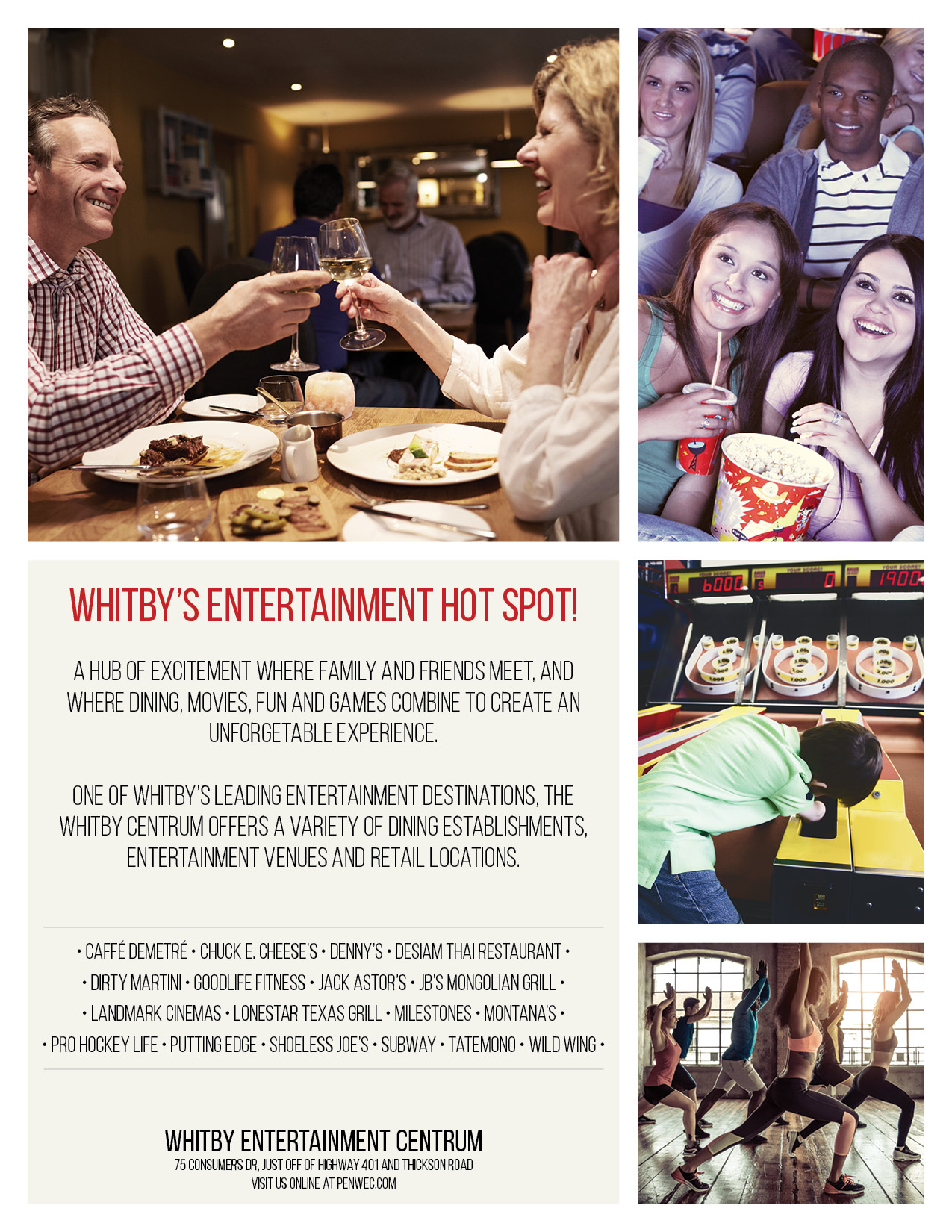 magazine ad for Whitby Entertainment Centrum