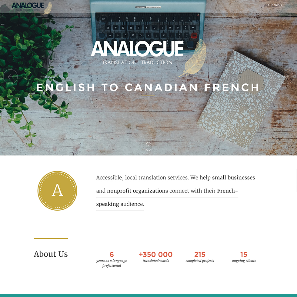 Analogue Translation Website