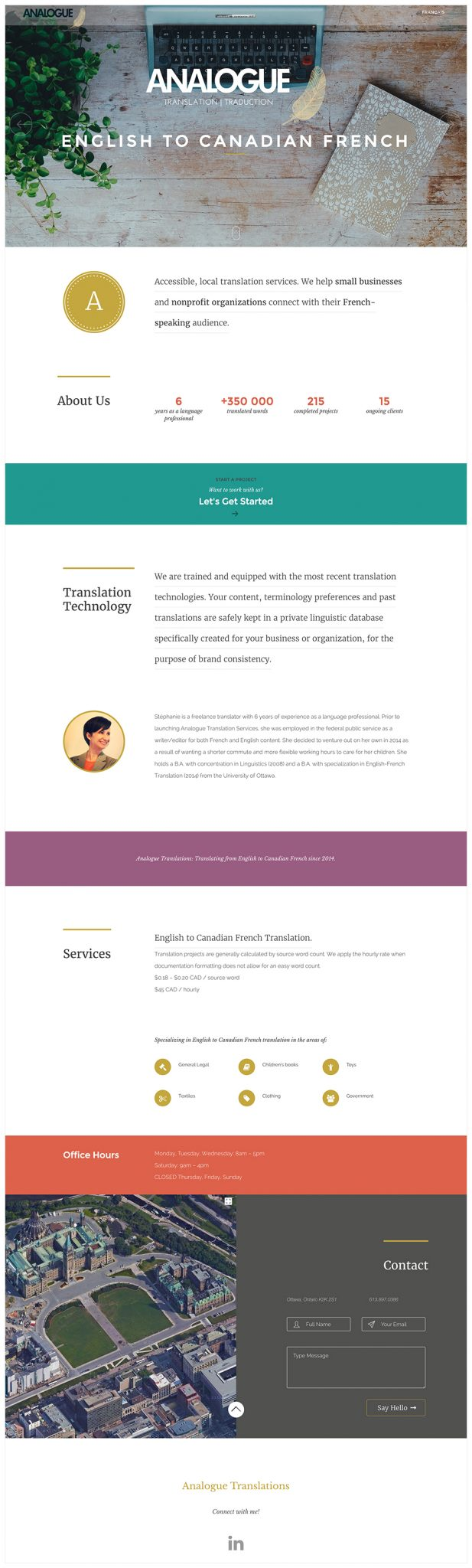 Analogue Translation Website Design