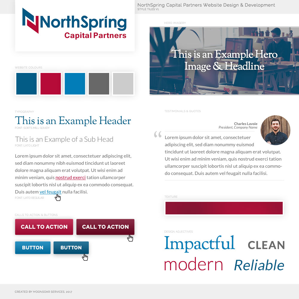 Style Tiles for NorthSpring Capital Partners