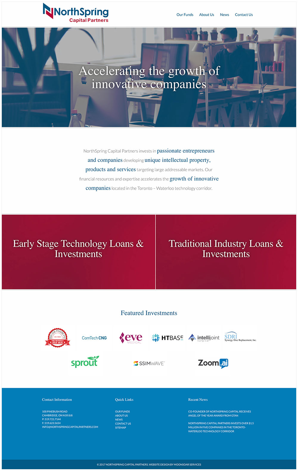 NorthSpring Capital Partners Website